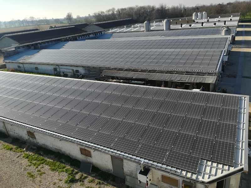 Impianto fotovoltaico a Parma per azienda agricola CampoBo