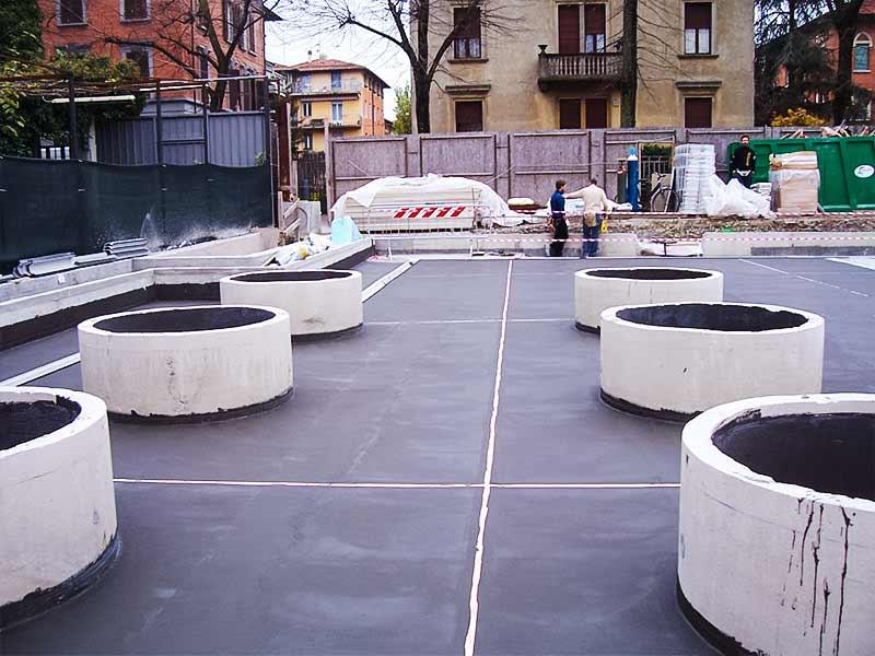 Impermeabilizzazione a Parma con malta cementizia