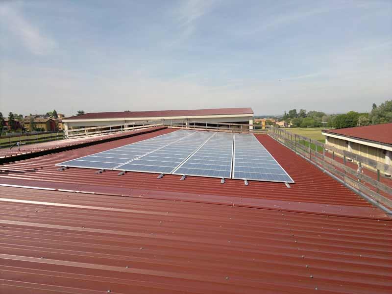 impianto fotovoltaico a Parma con moduli in silicio policristallino