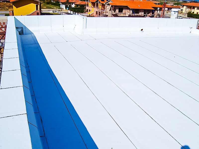 Impermeabilizzazione con manto bianco termoriflettente